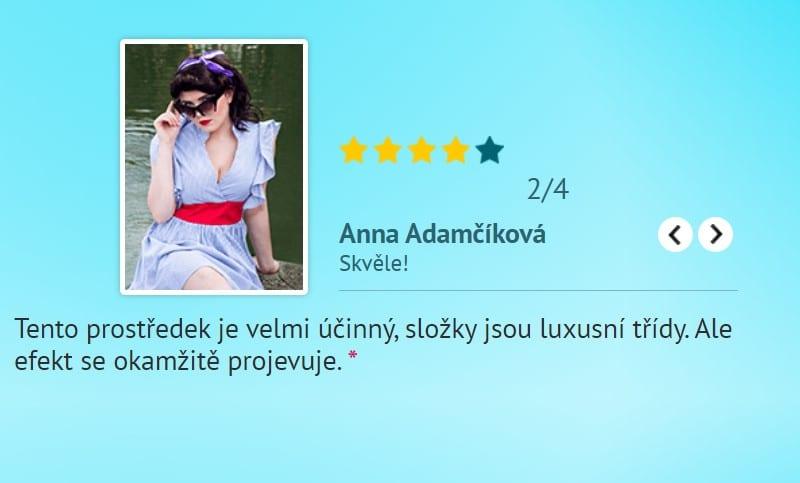 """Anna Adamčíková: """"Tento prostředek je velmi účinný, složky jsou luxusní třídy. Ale efekt se okamžitě projevuje. """""""