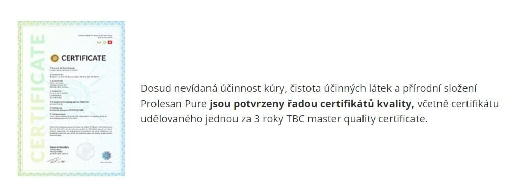 TBC master quality certificate
