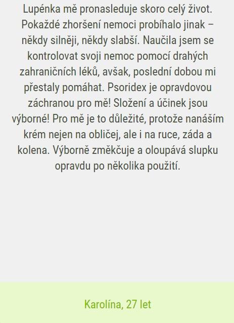 Psoridex recenze